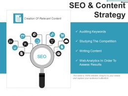 Seo And Content Strategy Example Of Ppt