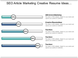 Seo Article Marketing Creative Resume Ideas Career Path Cpb