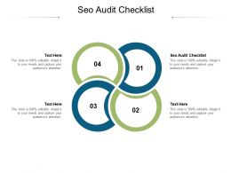 SEO Audit Checklist Ppt Powerpoint Presentation File Deck Cpb