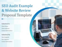 SEO Audit Example And Website Review Proposal Template Powerpoint Presentation Slides