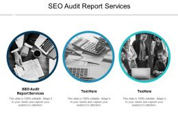 SEO Audit Report Services Ppt Powerpoint Presentation Layouts Shapes Cpb