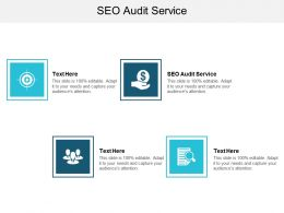 SEO Audit Service Ppt Powerpoint Presentation Summary Templates Cpb