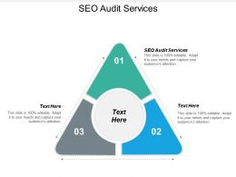 SEO Audit Services Ppt Powerpoint Presentation Summary Clipart Images Cpb
