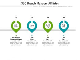SEO Branch Manager Affiliates Ppt Powerpoint Presentation Styles Model Cpb