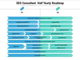 SEO Consultant Half Yearly Roadmap