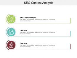 SEO Content Analysis Ppt Powerpoint Presentation Portfolio Master Slide Cpb