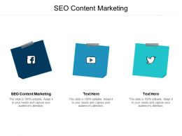 SEO Content Marketing Ppt Powerpoint Presentation Infographics Samples Cpb
