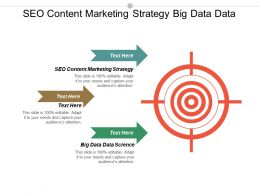 Seo Content Marketing Strategy Big Data Data Science Cpb