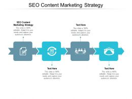 SEO Content Marketing Strategy Ppt Powerpoint Presentation Infographic Template Guide Cpb