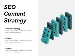 SEO Content Strategy Ppt Powerpoint Presentation Infographic Template Background Cpb