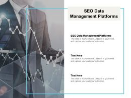 SEO Data Management Platforms Ppt Powerpoint Presentation Professional Deck Cpb