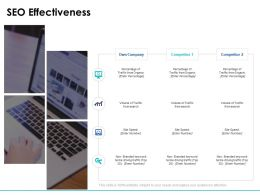 SEO Effectiveness Percentage Arrow Ppt Powerpoint Presentation Slides Gallery