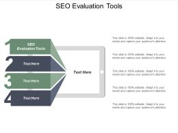 SEO Evaluation Tools Ppt Powerpoint Presentation Icon Layout Ideas Cpb