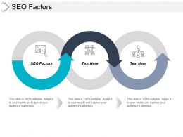 SEO Factors Ppt Powerpoint Presentation Infographic Template Slideshow Cpb