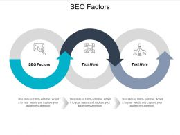 SEO Factors Ppt Powerpoint Presentation Infographics Example Cpb