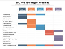 SEO Five Year Project Roadmap