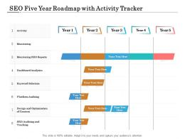 SEO Five Year Roadmap With Activity Tracker