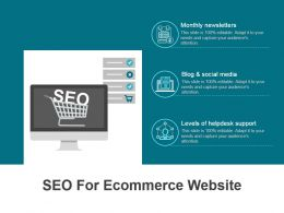 Seo For Ecommerce Website Powerpoint Topics
