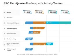 SEO Four Quarter Roadmap With Activity Tracker
