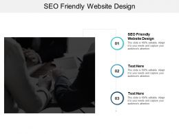 SEO Friendly Website Design Ppt Powerpoint Presentation Infographics File Formats Cpb