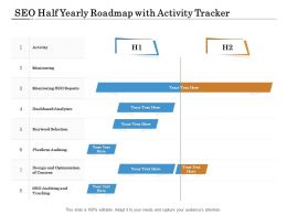 SEO Half Yearly Roadmap With Activity Tracker