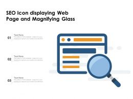 SEO Icon Displaying Web Page And Magnifying Glass
