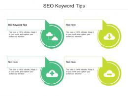 SEO Keyword Tips Ppt Powerpoint Presentation Slides Example Topics Cpb