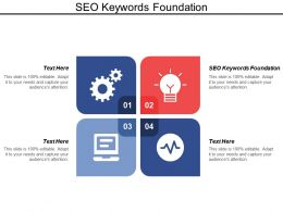 Seo Keywords Foundation Ppt Powerpoint Presentation Model Backgrounds Cpb