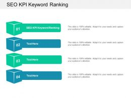 SEO KPI Keyword Ranking Ppt Powerpoint Presentation Show Clipart Images Cpb