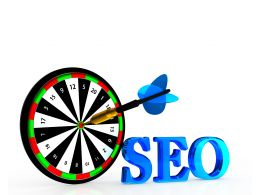 Seo Letters And Arrow On Target Board Stock Photo