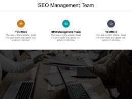 SEO Management Team Ppt Powerpoint Presentation Show Slides Cpb