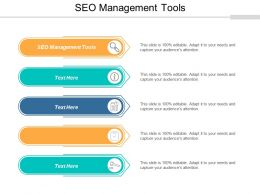 SEO Management Tools Ppt Powerpoint Presentation Model Portfolio Cpb