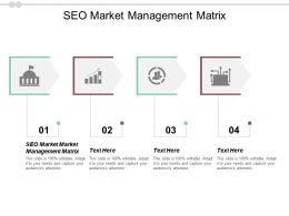 SEO Market Management Matrix Ppt Powerpoint Presentation Infographic Template Inspiration Cpb