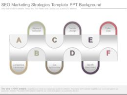 Seo Marketing Strategies Template Ppt Background
