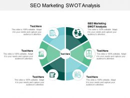 SEO Marketing SWOT Analysis Ppt Powerpoint Presentation File Slideshow Cpb