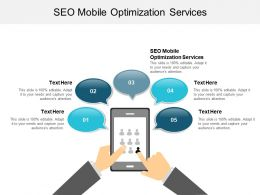 SEO Mobile Optimization Services Ppt Powerpoint Presentation Infographics Graphics Template Cpb