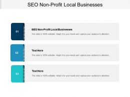 SEO Non Profit Local Businesses Ppt Powerpoint Presentation Show Gallery Cpb