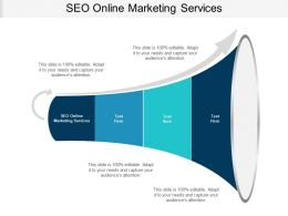 SEO Online Marketing Services Ppt Powerpoint Presentation Icon Introduction Cpb