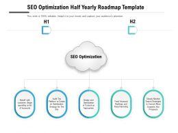 SEO Optimization Half Yearly Roadmap Template