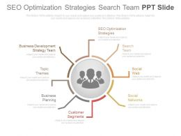 Seo Optimization Strategies Search Team Ppt Slide