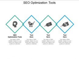 SEO Optimization Tools Ppt Powerpoint Presentation Infographics Demonstration Cpb