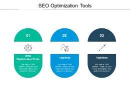 SEO Optimization Tools Ppt Powerpoint Presentation Portfolio Guidelines Cpb