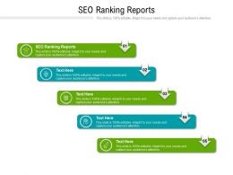 SEO Ranking Reports Ppt Powerpoint Presentation Visual Aids Slides Cpb