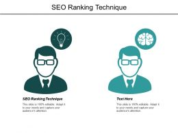 SEO Ranking Technique Ppt Powerpoint Presentation Pictures Background Cpb