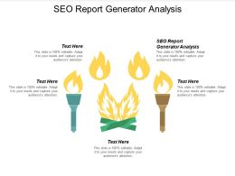 SEO Report Generator Analysis Ppt Powerpoint Presentation Layouts Portrait Cpb