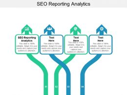 SEO Reporting Analytics Ppt Powerpoint Presentation Slides Show Cpb