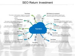 SEO Return Investment Ppt Powerpoint Presentation Summary Design Ideas Cpb