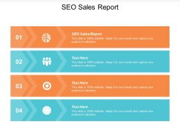 SEO Sales Report Ppt Powerpoint Presentation Slides Format Cpb