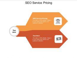 SEO Service Pricing Ppt Powerpoint Presentation Ideas Design Ideas Cpb