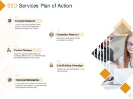 SEO Services Plan Of Action Ppt Powerpoint Presentation Model Example Topics